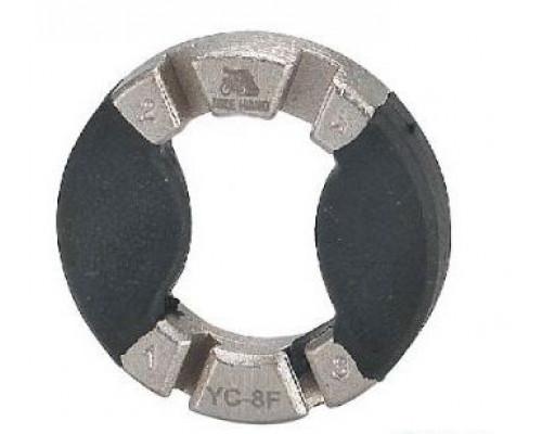Захват/съемник д/спиц 6-150008 профи YC-8F 3.2/3.45/3,5/4,0 мм сталь прорезиненые вставки серебристый BIKEHAND