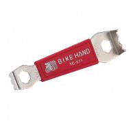 Съемник бонок 6-150271 систем шатунов YC-271 накидные ключи 9мм, 10мм, сталь, красный BIKEHAND