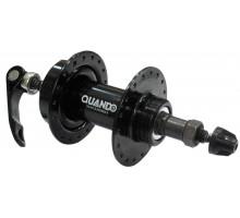 Втулка 6-160169 стальная задняя 36 отверстий для для дискового тормоза под 7 скоростей трещетку, с эксцентриком KT-M65R, черная QUANDO