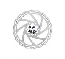 Тормозной диск 6-171406 (ротор) для дискового тормоза HJ-DXR1406 140мм+6 болтов нержавейка сталь серебристый ALHONGA
