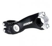 Вынос внешний 6-180190 регулируемый 0-60` 1 1/8″ 120/90мм для руля 25,4мм алюминиевый черный ZOOM