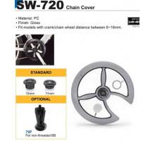 Защита системы 6-180658 SW-720 46/48 c крепление под полую каретку, пластик черная SUNNY WHEEL