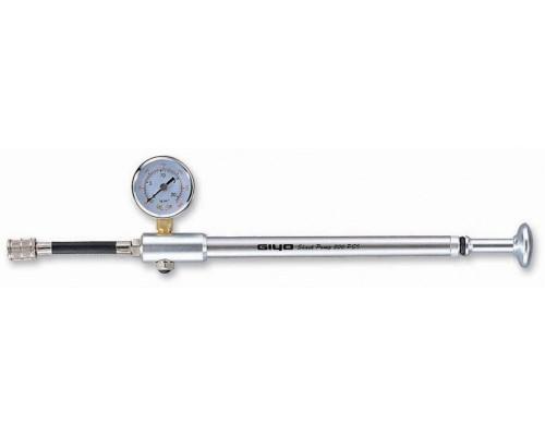 Насос 6-190010 для амортизационной вилки GS-01 ПРОФИ с манометром алюминиевый до 21бар/300PSI складной шланг GIYO