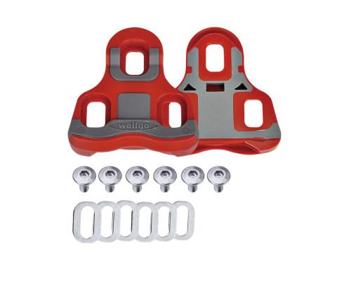 Педали/шипы 6-190070 RC-7B для ROAD контактных педалей R096B и др., с крепежом, сбободный ход 6°, серые WELLGO