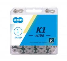 Цепь 6-190515 K710 112 звеньев 1/2х1/8 с замком в пластиковые коробке 1 скоростная для BMX CL710-NP KMC