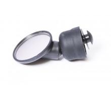 Зеркало 6-250036 круглое 1,5″ панорамное 3 степени свободы торцевое крепление черное