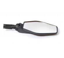 Зеркало 6-310 ромбообразное плоское 3 степени торцевое крепление черное