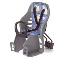 Сиденье 6-639880 детское переднее на подседельный штырь до 4лет/15кг 280*540*250 мм синее