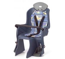 Сиденье 6-639882 детское на багажник с поручнем и с подголов, до 22кг 310*670*310мм синее