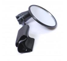Зеркало 6-647338 круглое 3″ плосокое 3 степени свободы крепление к ручке руля на липучке черное