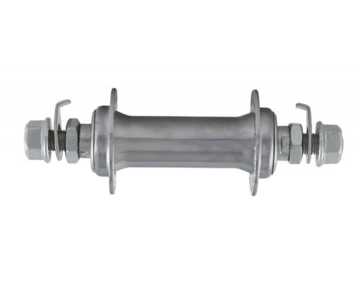 Втулка 6-775 алюминиевая передняя 36 отверстий NH-775F с гайкой 100мм серебристая