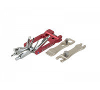 Набор 8-10000080 универсальный Expert19 складной шестигранники +/- отвертки, монтажки, выжимка, спицевые ключи Сr-V/алюм.AUTHOR