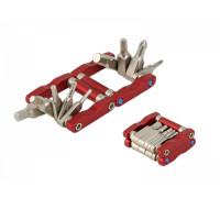 Набор 8-10000090 универсальный Multiped 9 складной шестигранники 2/2.5/3/4/5/6мм отвертки -/+PH1/PH2, Т25 сплав Cr-V, 75гр. анодированный красный аюмининиевый корпус AUTHOR