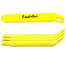 Монтировки 8-10091110 пластиковые CC TL4 эргономичные с крючками (3шт) желтые AUTHOR