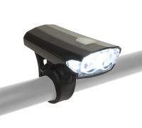 Фара 8-12002262 2диода 40люмен/3функции Doppio Collimator-линзы Li-Ion АКБ USB-зарядиод+кабель черная AUTHOR