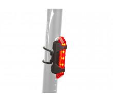 Фонарь 8-12039134 задний 5диодов/4функции A-Stake Mini USB красный вертикальный прорезининый с батарейками AUTHOR
