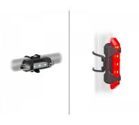 Фара+фонарь 8-12040140 Stake Mini USB SET быстросъемный 3функции белый передний красный задний USB Li-ion AUTHOR