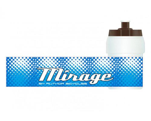 Фляга 8-14060012 пластиковая бело-голубая д/детских велосипедов MIRAGE 0.35л AUTHOR