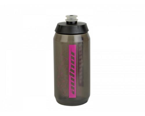 Фляга 8-14060096 100% биопластиковая AB-FLASH X9 0.55л 54гр. c большим клапаном, полупрозрачная -розовая AUTHOR