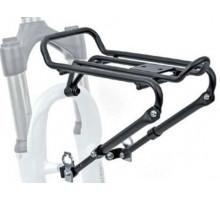 Багажник 8-15200220 алюминиевый передний ACR-30-Alu регулируемый крепление к тормозам V-брейк алюминиевый черный