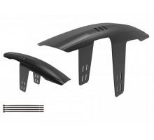 Крыло-щиток 8-16150030 пластиковом X-Flap 26-29″ переднее на раму б/съемное облегченное черный AUTHOR
