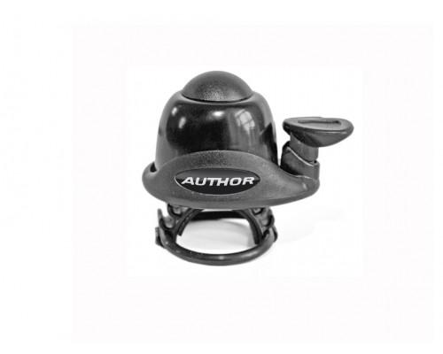 Звонок 8-16311110 алюминиевый /пластик AWA-60-Blk мини резиновое крепление черный AUTHOR