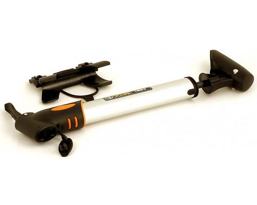 Насос 8-18101031 алюминиевый AAP Twin 2 овальный 2 головки Т-ручка 275мм, 148г серебристый AUTHOR