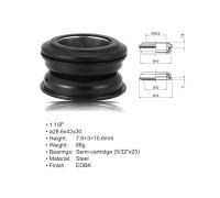Рулевой набор 8-23950102 ACO-HS24 Int. сталь полукартридж 1 1/8″ AHEAD 28,6/42/30 черный AUTHOR