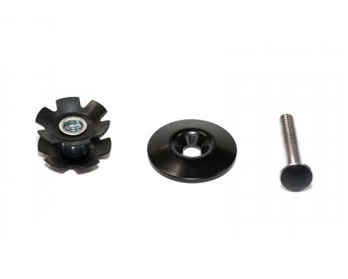 Паук 8-23950310 диаметр 25.4 1 1/8″ ACO-TC1 с болтом и резиновой заглушкой для AHEAD-систем черный с логотипом AUTHOR
