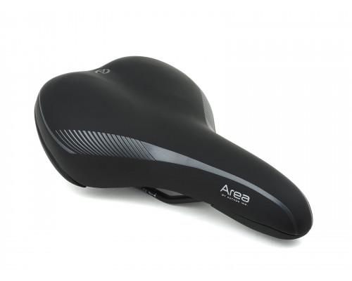 Седло 8-31048042 комфортное AREA X7 260х170мм 400г. гелевое черное AUTHOR