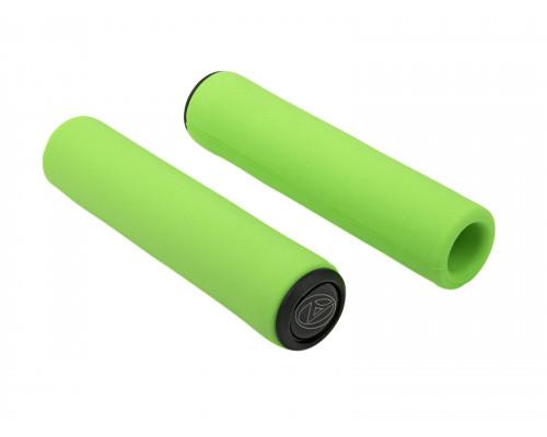 Ручки 8-33402032 на руль AGR SILICONE ELITE 130мм Green-Neon 96г. силиконовые неоновые AUTHOR