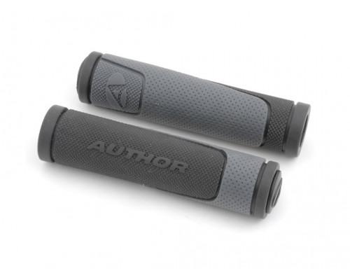 Ручки 8-33452002 на руль AGR-600-D3 130мм Gry резиновые 2-х компонентные черно-серые AUTHOR