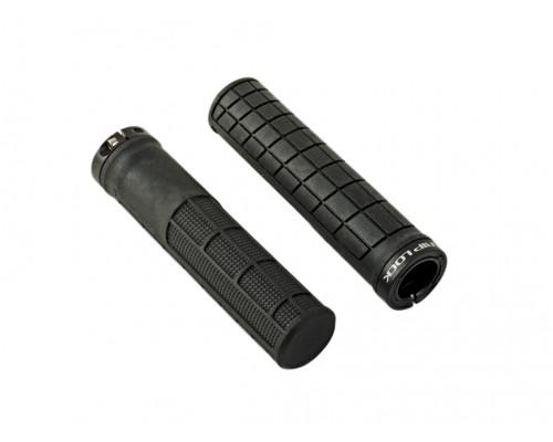 Ручки 8-33452057 на руль AGR Griplock R45 137мм резиновые эргономичные комфортное с 1-м фиксатором 121г. черные AUTHOR