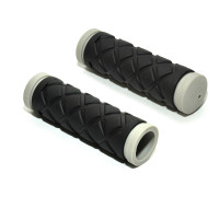 Ручки 8-33455010 на руль детские AGR Junior 5 102мм Blk резиновые 2-х компонентные черно-серые AUTHOR