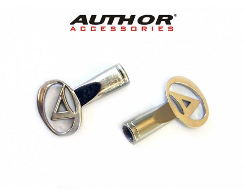 Колпачки для ниппеля 8-37500501 спортивный алюминиевый с логотипом (2 шт. на блистере) серебристый AUTHOR