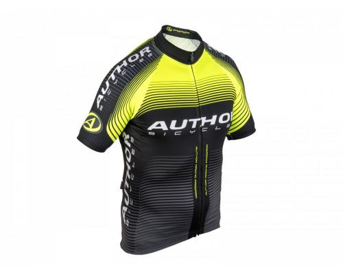 Велофутболка 8-7059782 PROFI X0 профессиональная линия ARP черно-неоново-желтая размер S AUTHOR