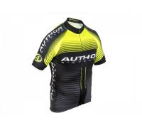Велофутболка 8-7059786 PROFI X0 профессиональная линия ARP черно-неоново-желтая размер XXL AUTHOR