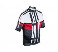 Велофутболка 8-7059804 MEN SPORT X7 линия ASC материал SPINN черно-бело-красная размер XL AUTHOR