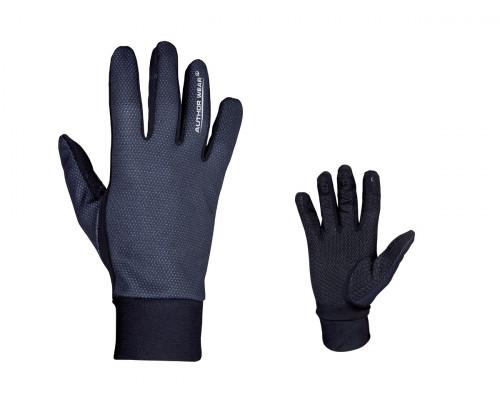 Перчатки 8-7131054 длинные пальцы Windster утепленные, облегченные, черные размер XXS лайкра/флис AUTHOR