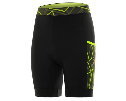 Велошорты 12-522 Piana S-2851-F14 Black/Yellow ref. Men Pro 11 panel Pocket Shorts с памперсом F14 черно-неоновые размер L FUNKIER