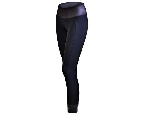 Велоштаны 12-566 женские длинные Olbia S-138- B13 Black Women Active Tights with Bottem Reflective zipper с памперсом B13 черные размер L FUNKIER