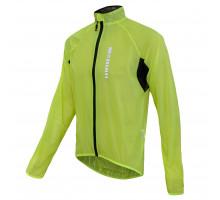 Велокуртка/дождевик 12-742 Saronno WJ-1412 Yellow Ref Men Pro Light Rain Jacket с длинной молнией со светоотражающими элементами неоновая размер L FUNKIER