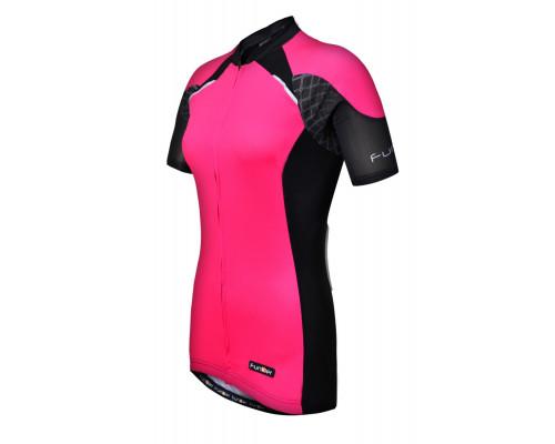 Велофутболка 12-780 женская Firenze WJ-730-7 Pink Black Women Active SS Jersey черно-розовая XS FUNKIER
