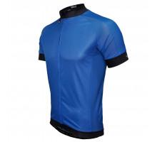 Велофутболка 12-826 PARMA J-930 Blue Men Active Jersey с длинной молнией, водонепроницаемый карман, синяя размер S FUNKIER