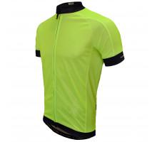 Велофутболка 12-832 PARMA J-930 Yellow Ref. Men Active Jersey с длинной молнией, водонепроницаемый карман, неоново-желтая размер S FUNKIER