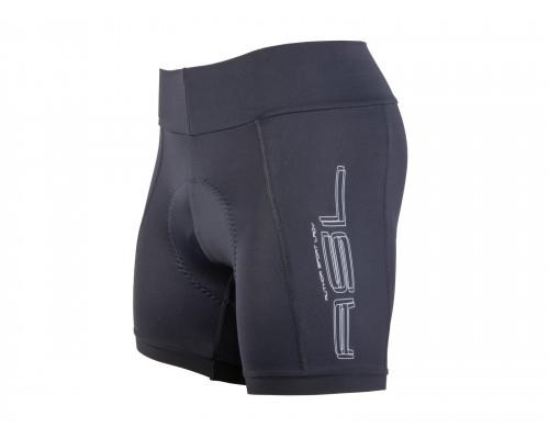 Велошорты 8-7106505 женские Shorts Lady Sport X8 с памперсом широкий пояс черные размер XL AUTHOR