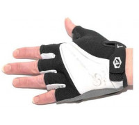 Перчатки 8-7130560 Lady Comfort Gel черно-бело-серые размер S гель/лайкра/синт.кожа с петельк. AUTHOR