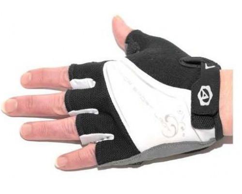 Перчатки 8-7130561 Lady Comfort Gel черно-бело-серые размер M гель/лайкра/синт.кожа с петельк. AUTHOR