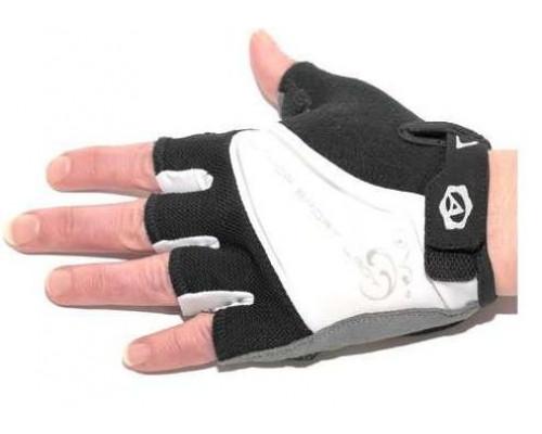 Перчатки 8-7130562 Lady Comfort Gel черно-бело-серые размер L гель/лайкра/синт.кожа с петельк. AUTHOR