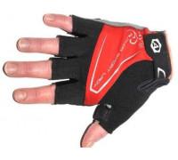 Перчатки 8-7130563 Lady Comfort Gel красн-черно-серые размер S гель/лайкра/синт.кожа с петельк. AUTHOR